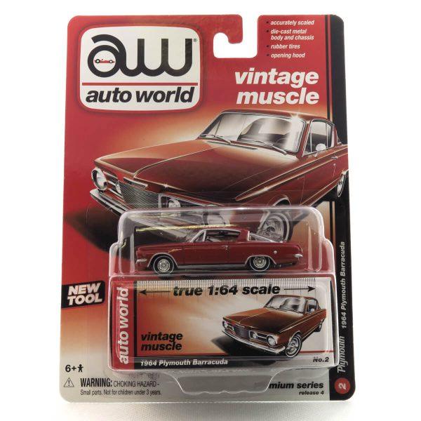 1964 Plymouth Barracuda kovový model Auto World – M 1:64 (AW64032-2A)