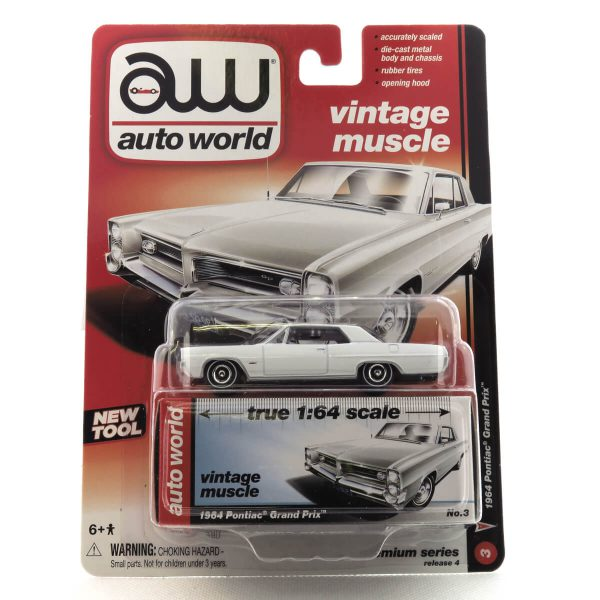 1964 Pontiac Grand Prix kovový model Auto World – M 1:64 (AW64032-3A)