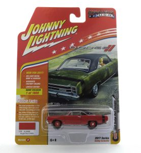 1969 Dodge Dart Swinger kovový model Johnny Lightning – M 1:64 (JLMC011-B)