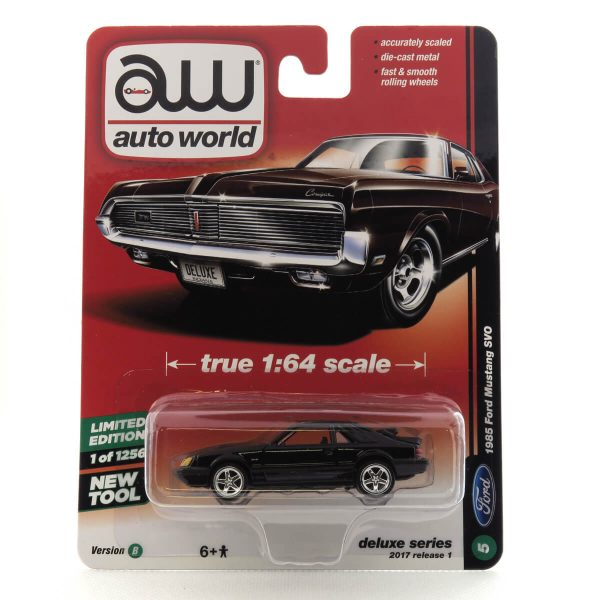 1985 Ford Mustang SVO kovový model Auto World – M 1:64 (AW64021-5B)