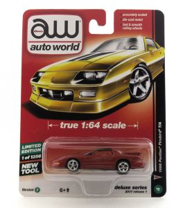 1996 Pontiac Firebird T/A kovový model Auto World – M 1:64 (AW64021-4B)