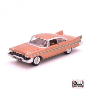 1958 Plymouth Fury kovový model Auto World – M 1:64 (AW64042-6A)