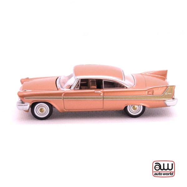 1958 Plymouth Fury kovový model Auto World – M 1:64 (AW64042-6A)