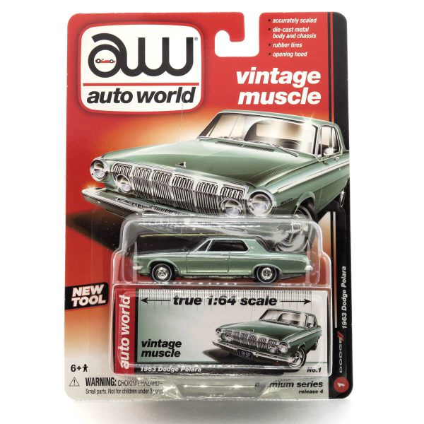 1963 Dodge Polara kovový model Auto World – M 1:64 (AW64032-1B)