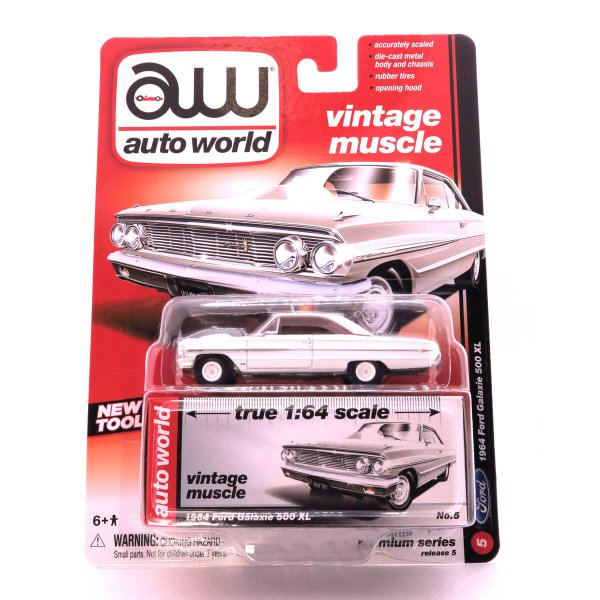 1964 Ford Galaxie 500 XL kovový model Auto World – M 1:64 (AW64042-5A)