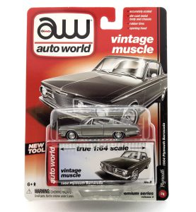 1964 Plymouth Barracuda kovový model Auto World – M 1:64 (AW64032-2B)