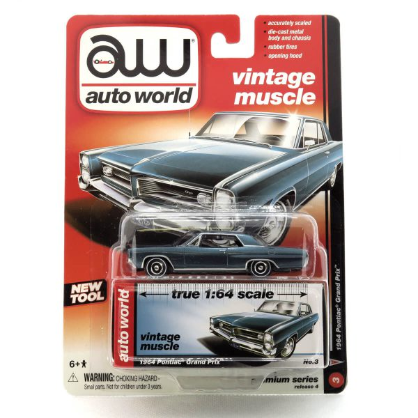 1964 Pontiac Grand Prix kovový model Auto World – M 1:64 (AW64032-3B)