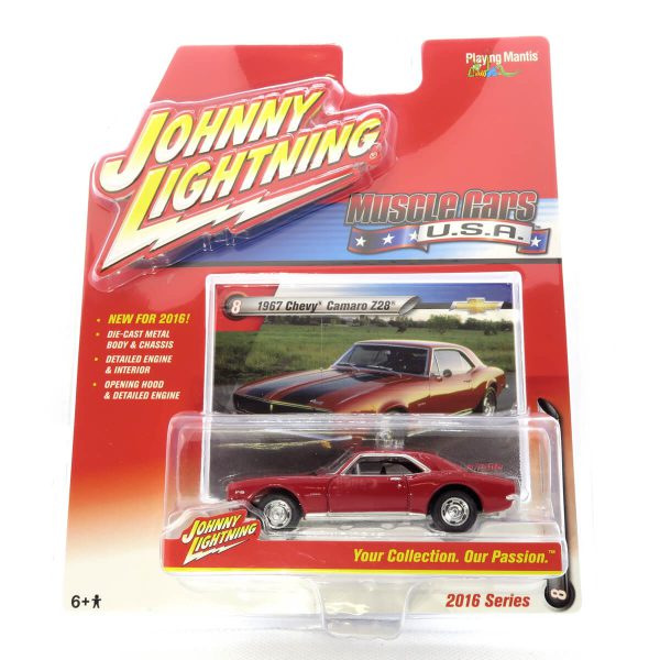 1967 Chevy Camaro Z28 kovový model Johnny Lightning – M 1:64 (JLMC002-8A)