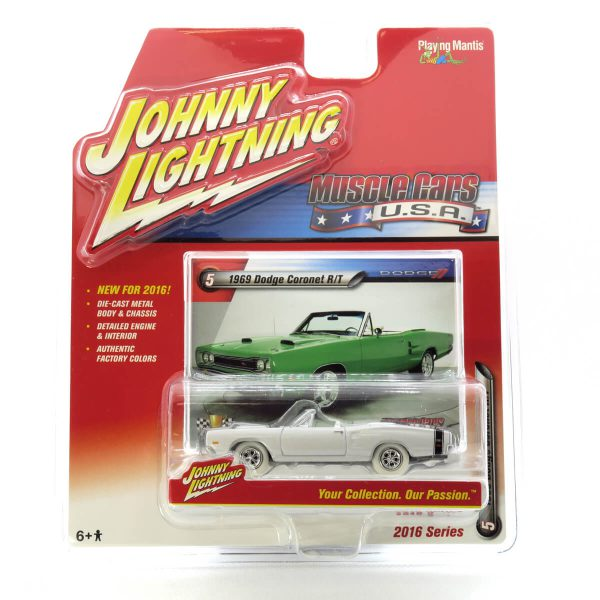 1969 Dodge Coronet R/T kovový model Johnny Lightning (rare) – M 1:64 (JLMC001-5A)