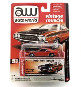 1970 Dodge Challenger T/A kovový model Auto World – M 1:64 (AW64032-4B)