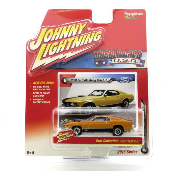 1970 Ford Mustang Mach 1 kovový model Johnny Lightning – M 1:64 (JLMC001-6A)