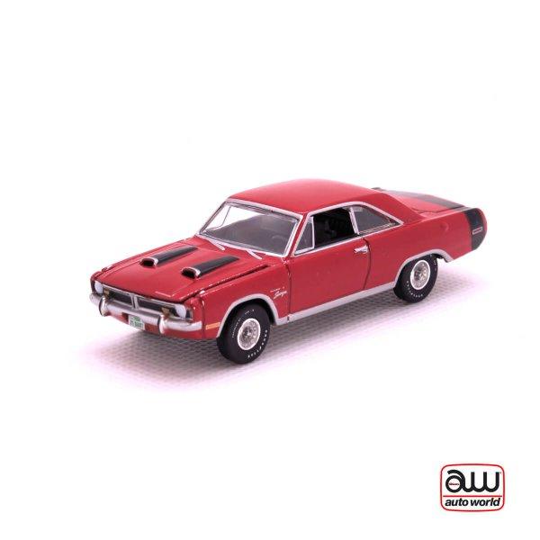 1971 Dodge Dart Swinger kovový model Auto World – M 1:64 (AW64042-1A)