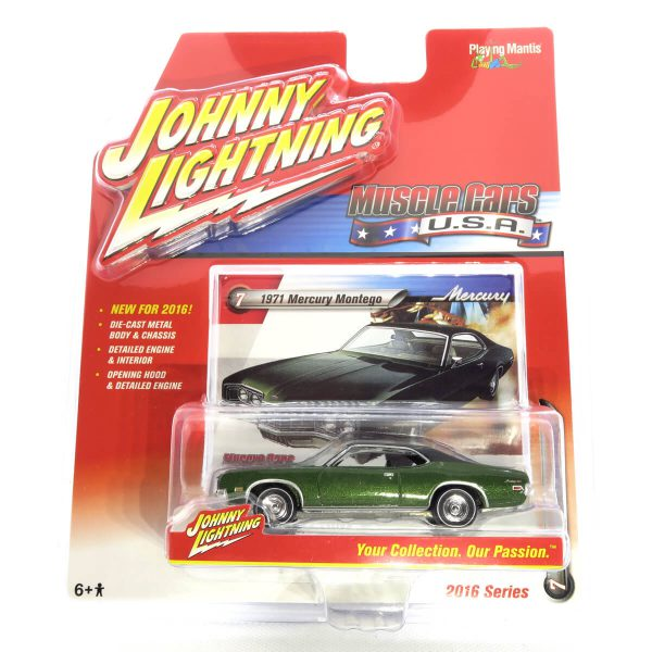 1971 Mercury Montego kovový model Johnny Lightning – M 1:64 (JLMC002-7A)