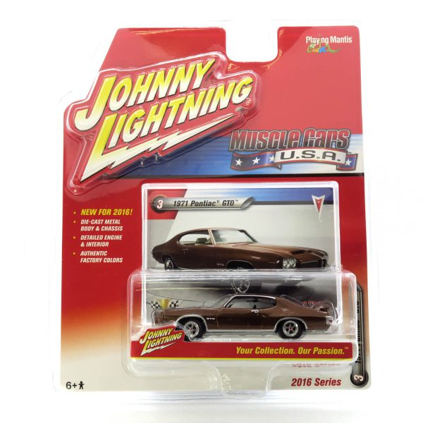 1971 Pontiac GTO kovový model Johnny Lightning – M 1:64 (JLMC001-3A)