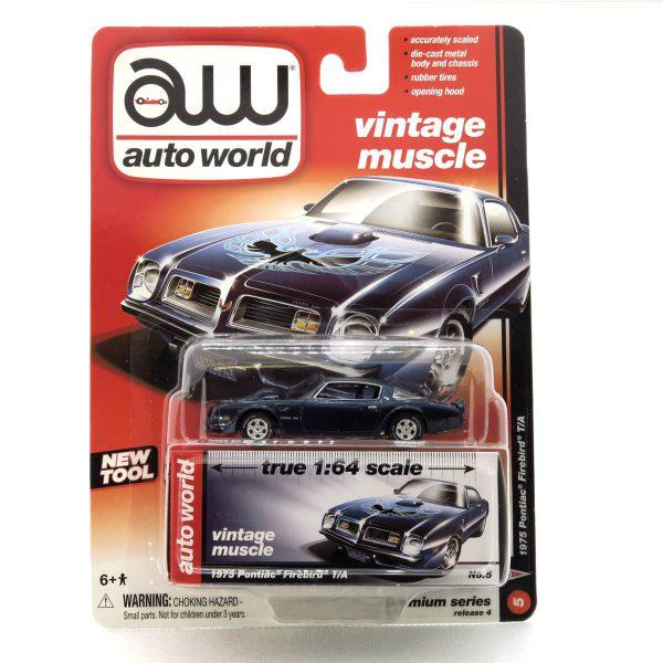 1975 Pontiac Firebird T/A kovový model Auto World – M 1:64 (AW64032-5B)