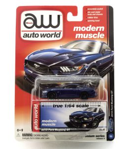 2015 Ford Mustang GT kovový model Auto World – M 1:64 (AW64032-6B)
