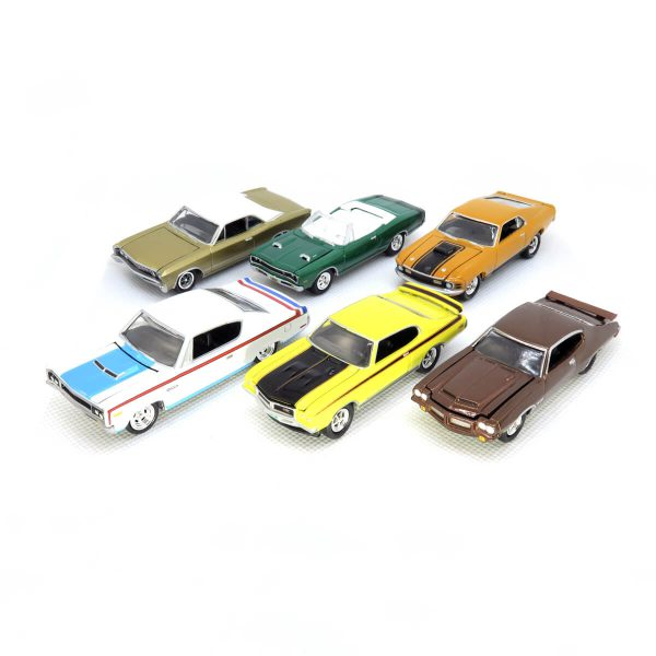 Johnny Lightning Muscle Cars U.S.A. 2016 release 1 Version A - kolekcia 6 ks (JLMC001A)