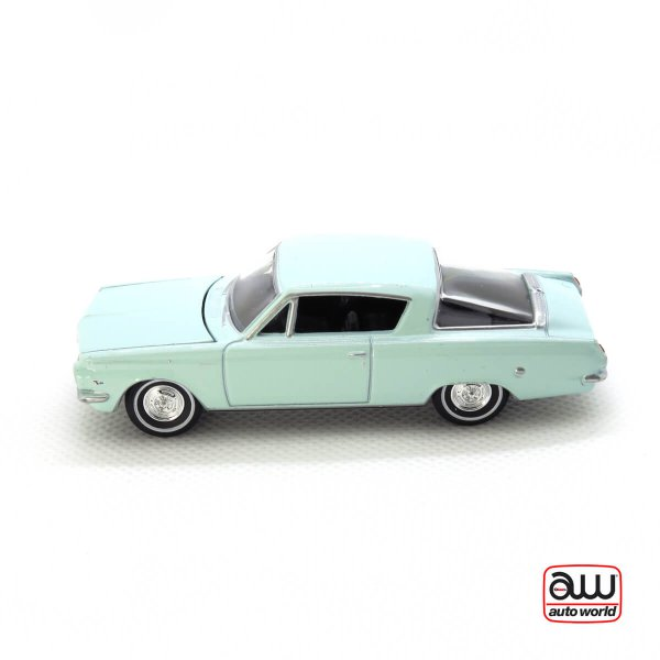 1964 Plymouth Barracuda kovový model Auto World – M 1:64 (AWSP001-B)