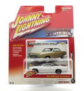1967 Chevy Chevelle Malibu kovový model Johnny Lightning – M 1:64 (JLMC001-4B)