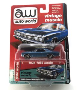 1967 Chevy Chevelle SS kovový model Auto World – M 1:64 (AW64132-A)