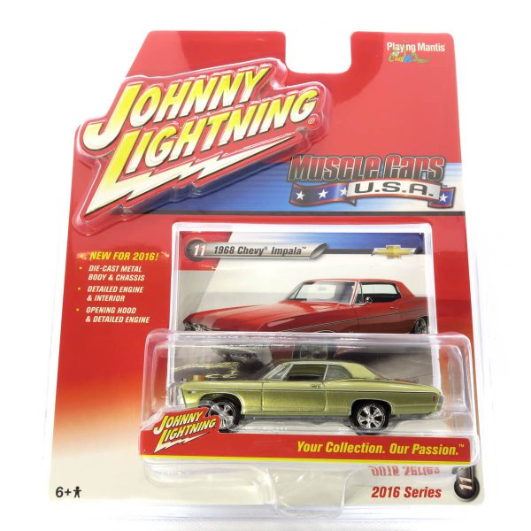 1968 Chevy Impala kovový model Johnny Lightning – M 1:64 (JLMC002-11B)
