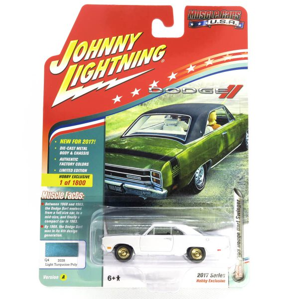 1969 Dodge Dart Swinger kovový model Johnny Lightning (rare) – M 1:64 (JLMC011-A)