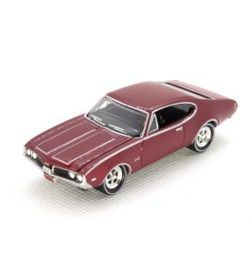 1969 Olds Cutlass 4-4-2 kovový model Johnny Lightning – M 1:64 (JLMC002-12A)