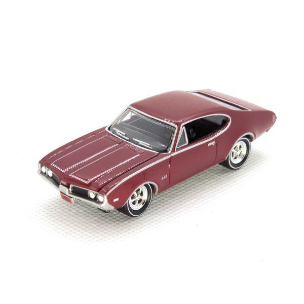 1969 Olds Cutlass 4-4-2 kovový model Johnny Lightning – M 1:64 (JLMC002-12A)