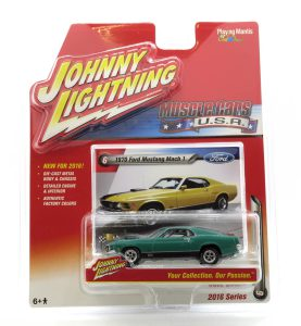 1970 Ford Mustang Mach 1 kovový model Johnny Lightning – M 1:64 (JLMC001-6B)