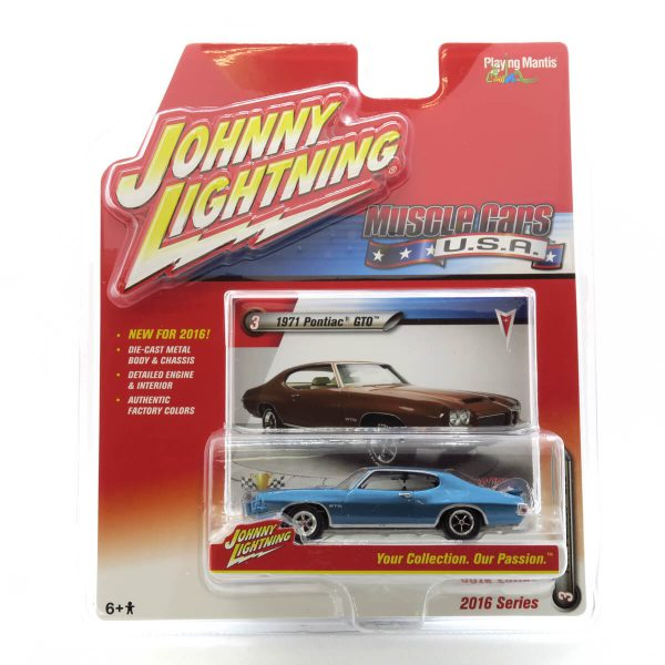 1971 Pontiac GTO kovový model Johnny Lightning – M 1:64 (JLMC001-3B)