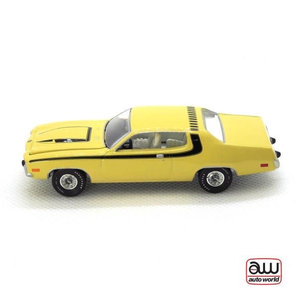 1974 Plymouth Road Runner kovový model Auto World – M 1:64 (AWSP002-A)