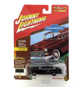 1955 Chevy 2-Door Sedan kovový model Johnny Lightning – M 1:64 (JLSP005-A)