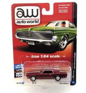 1969 Mercury Cougar kovový model Auto World (rare) – M 1:64 (AW64021-3A)