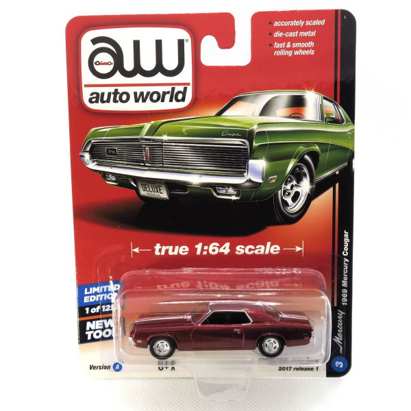 1969 Mercury Cougar kovový model Auto World (rare) – M 1:64 (AW64021-3A)