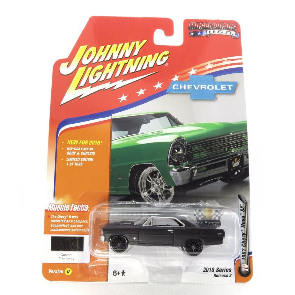 1967 Chevy Nova SS kovový model Johnny Lightning – M 1:64 (JLMC002-10D)