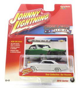 1967 Chevy Nova SS kovový model Johnny Lightning (rare) – M 1:64 (JLMC002-10D)