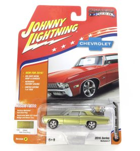 1968 Chevy Impala kovový model Johnny Lightning – M 1:64 (JLMC002-11D)