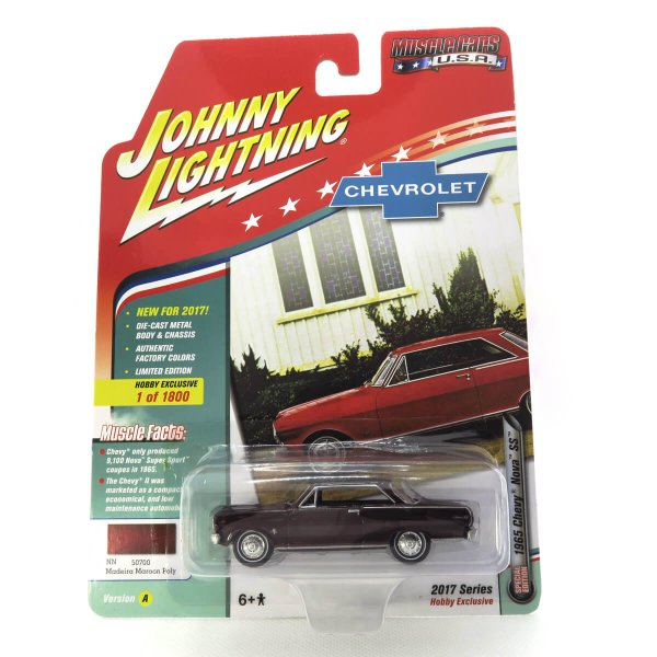 1965 Chevy Nova SS kovový model Johnny Lightning – M 1:64 (JLMC010-A)